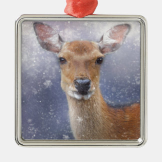 Rogenrotwild Silbernes Ornament