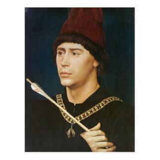 Rogier Weyden- Porträt von Antoine Postkarte