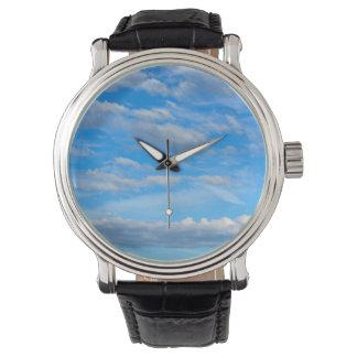 Rohbaumwolle-Wolken Armbanduhr