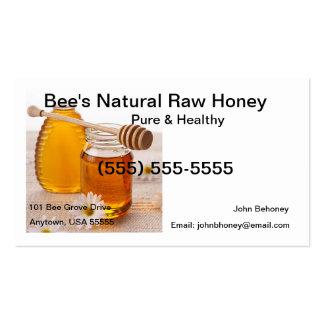 Rohe Honig-Visitenkarte Visitenkarten
