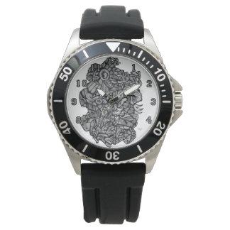 Rohe Kreuzung Armbanduhr