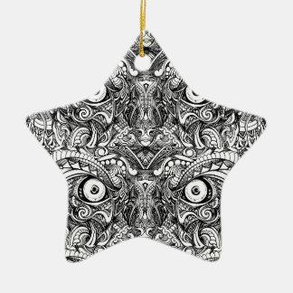 Rohe raue gemeine verärgerte schlechte keramik Stern-Ornament