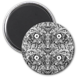 Rohe raue gemeine verärgerte schlechte runder magnet 5,7 cm