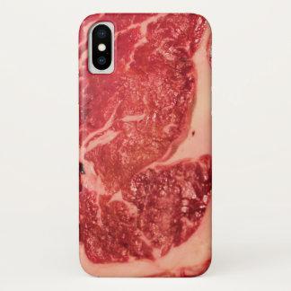 Rohes Fleisch Ribeye Steak-Beschaffenheit iPhone X iPhone X Hülle