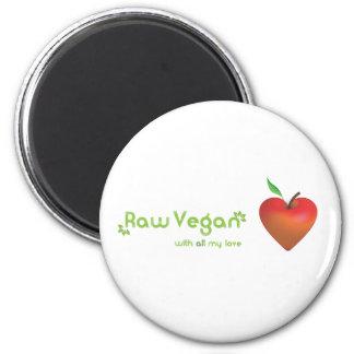 Rohes veganes mit meiner ganzer Liebe (rotes Apfel Magnete