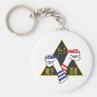 Rohr-Socke Ninjas Schlüsselanhänger