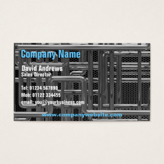 Rohre des Chroms 3d mechanisch, Technologie Visitenkarte