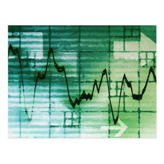 Rohstoffhandel-und Preis-Analyse-Nachrichten-Kunst Postkarte