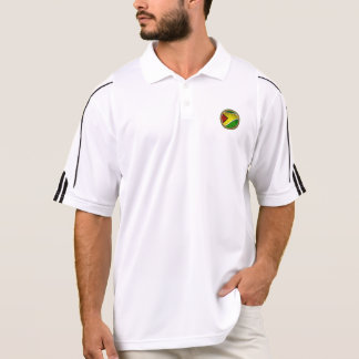 RokCloneDesigns Guyana Flagge mit Polo Shirt