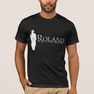 ROLAND: Roland-Silhouette (Schwarzes) T-Shirt