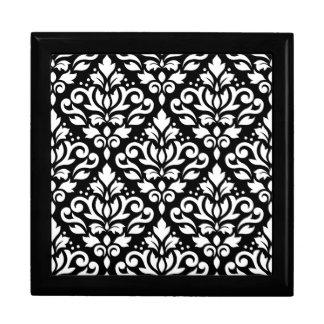 Rolle-Damast-Muster-Weiß auf Schwarzem Erinnerungskiste