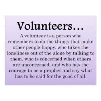 Rolle der Freiwilliger Postkarte
