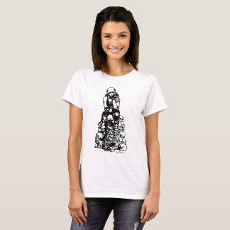 Rolle Derby entwarf Shirt-Stapel der Schädel T-Shirt