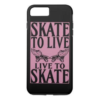 Rolle Derby, Skate zum zu leben Live zu den Skaten iPhone 8 Plus/7 Plus Hülle