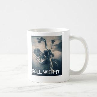 Rolle mit ihr Motorrad-Gang Kaffeetasse