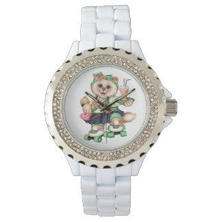 ROLLECAT eWatch Uhrrhinestone-Weiß Uhr