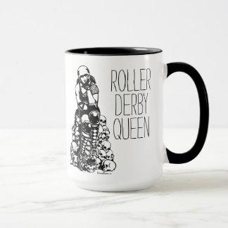 Rollen-Derby-Königin-Schwarz-Griff-Kaffee-Tasse Tasse