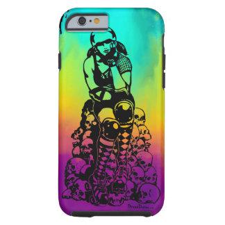 Rollen-Derby-Mädchen-Regenbogen iPhone 6/6s, Tough iPhone 6 Hülle