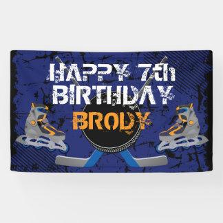 Rollen-Hockey-Geburtstag Banner