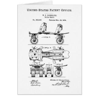 Rollen-Skate-Patent-Papier-Einzelteile Karte