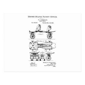 Rollen-Skate-Patent-Papier-Einzelteile Postkarte