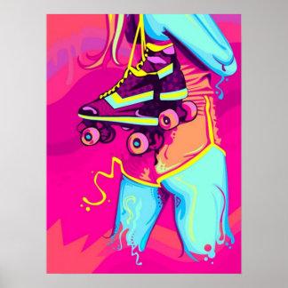 Rollen-Skate-Plakat Poster