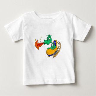 Rollen-Untersetzer-Drache Baby T-shirt