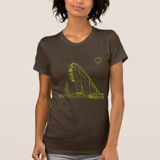 Rollen-Untersetzer-T-Stück T-Shirt