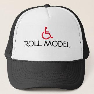 Rollenvorbildlicher Rollstuhl-behinderter Truckerkappe
