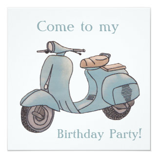 Roller-Geburtstagseinladung Quadratische 13,3 Cm Einladungskarte