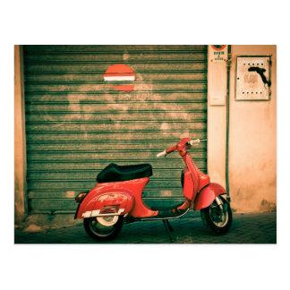 Roller in Italien Postkarte