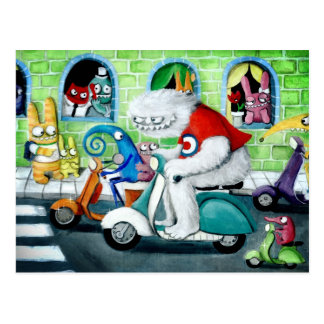Roller-Kundgebung - Yeti und Monster Postkarte