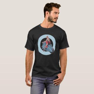 Roller-Mädchen-Mod-Zielschwarzes T-Shirt