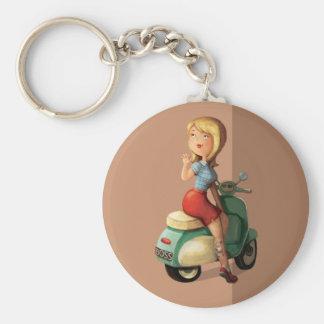 Roller-Mädchen Schlüsselanhänger