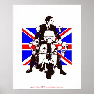 Roller-Reiter-Gewerkschafts-Jack-Hintergrund-Plaka