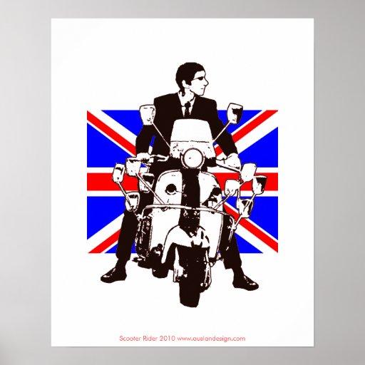 Roller-Reiter-Gewerkschafts-Jack-Hintergrund-Plaka Plakatdruck
