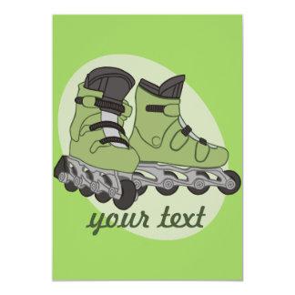Rollerblade-Skate 12,7 X 17,8 Cm Einladungskarte