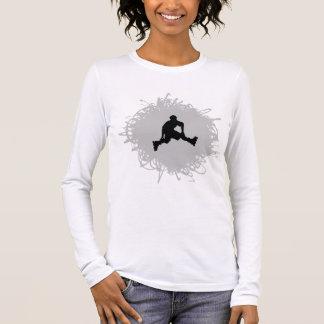 Rollerblading Gekritzel-Art Langarm T-Shirt