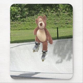 Rollerblading Teddybär Mousepad