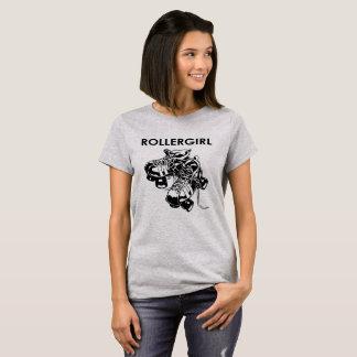 Rollergirl mit Rollen-Skate Damen-Shirt-Entwurf T-Shirt