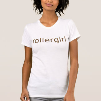 rollergirl orange Beschaffenheitstext T-Shirt