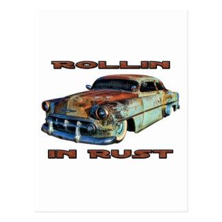 Rollin in Rost gehacktem Chevy Postkarte