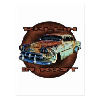 Rollin in Rost Schwanz Dragger gehacktes Chevy Postkarte