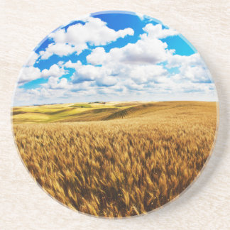 Rolling Hills des reifen Weizens Getränkeuntersetzer