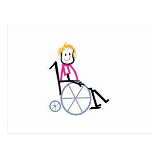 Rollstuhl-Kind Postkarte