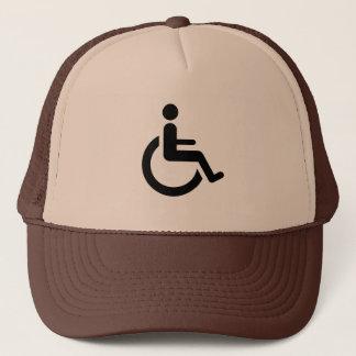 Rollstuhl-Zugang - Handikap-Stuhl-Symbol Truckerkappe