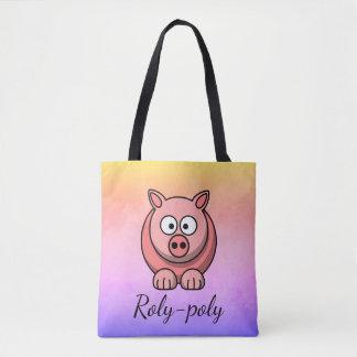 Roly-Polypastellrosa-Schwein Pigling Piggywiggy Tasche