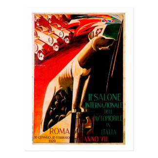Rom-Auto-Show ~ Vintage Automobil-Anzeige 1929 Postkarte