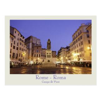Rom - Campo de Fiori Postkarte mit Text