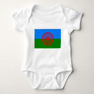 Rom-Flagge (Romani Flagge) Baby Strampler